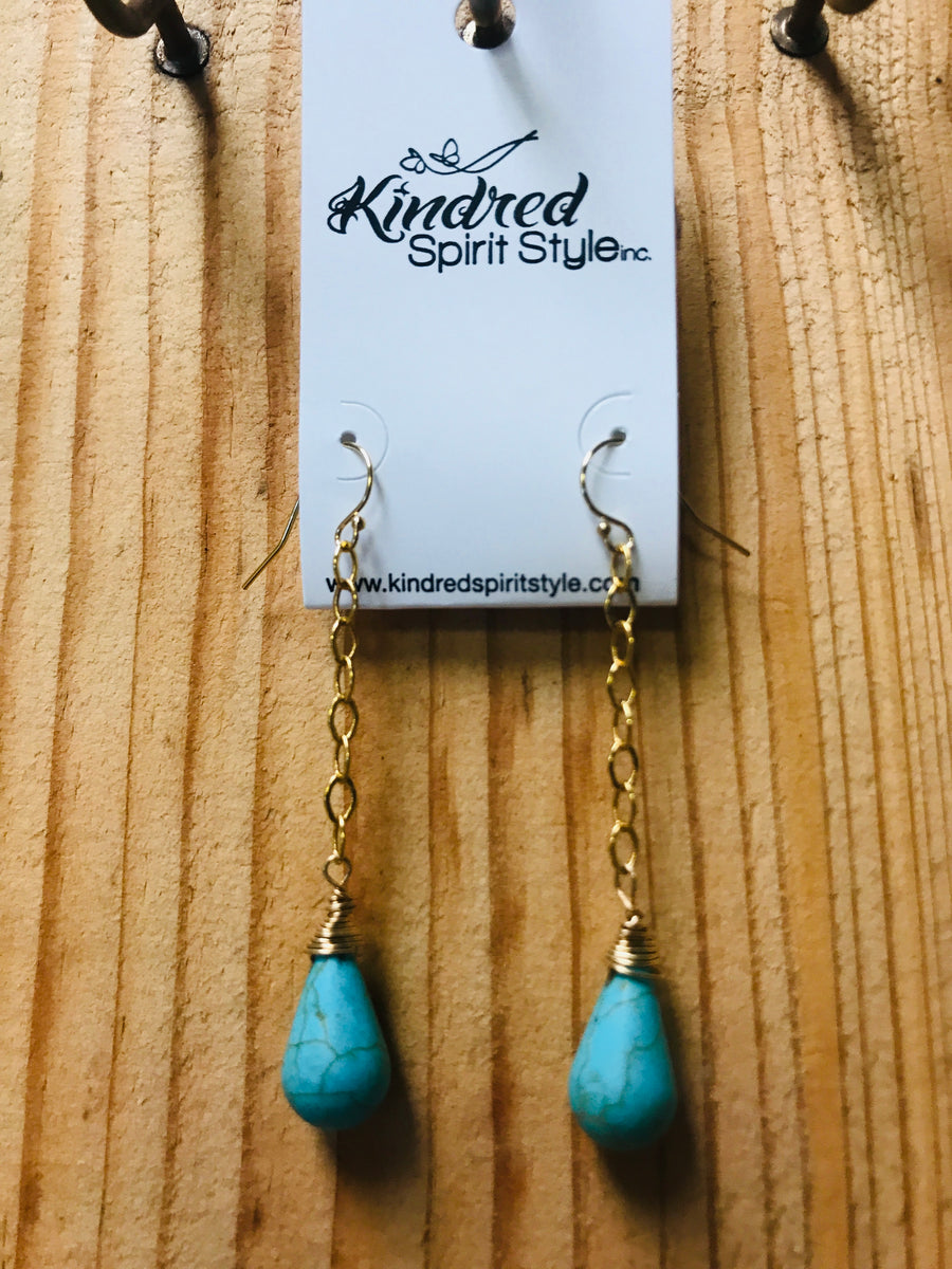 Turquoise Dangle Earrings 01233