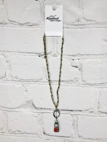 Drop Stone Necklace 01235