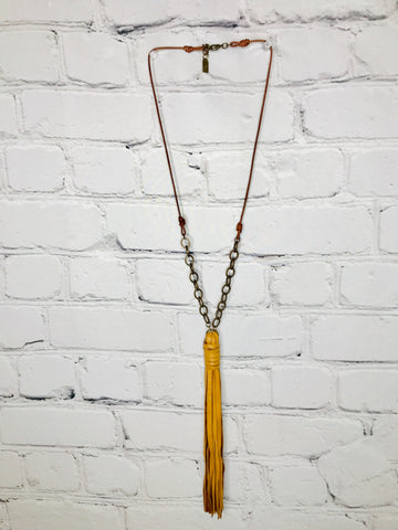 Leather Chain Necklace 01270