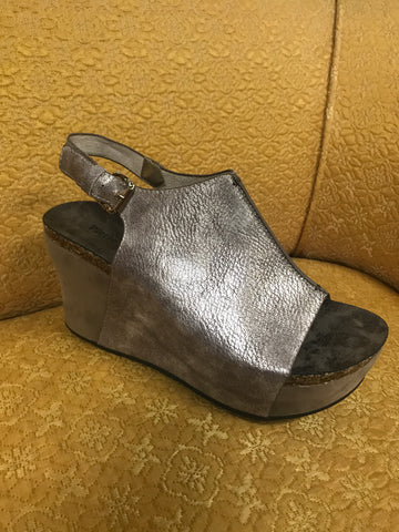 Hester Rose Gold Metallic Wedge 00813