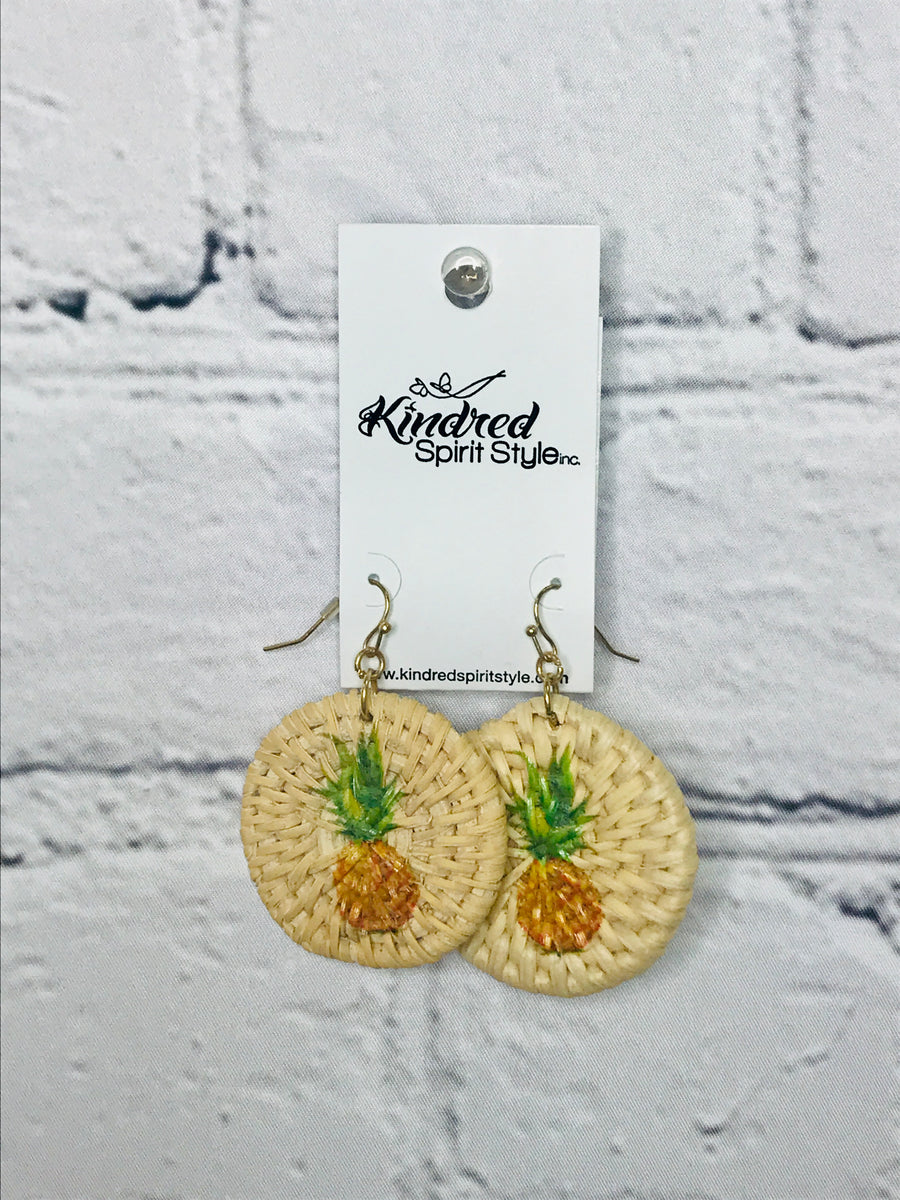 Pineapple Earrings 01716