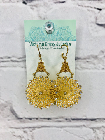 Antique Gold Filigree Earrings 00333