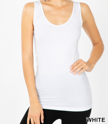 SCOOP NECK SEAMLESS TANK TOP- 01504
