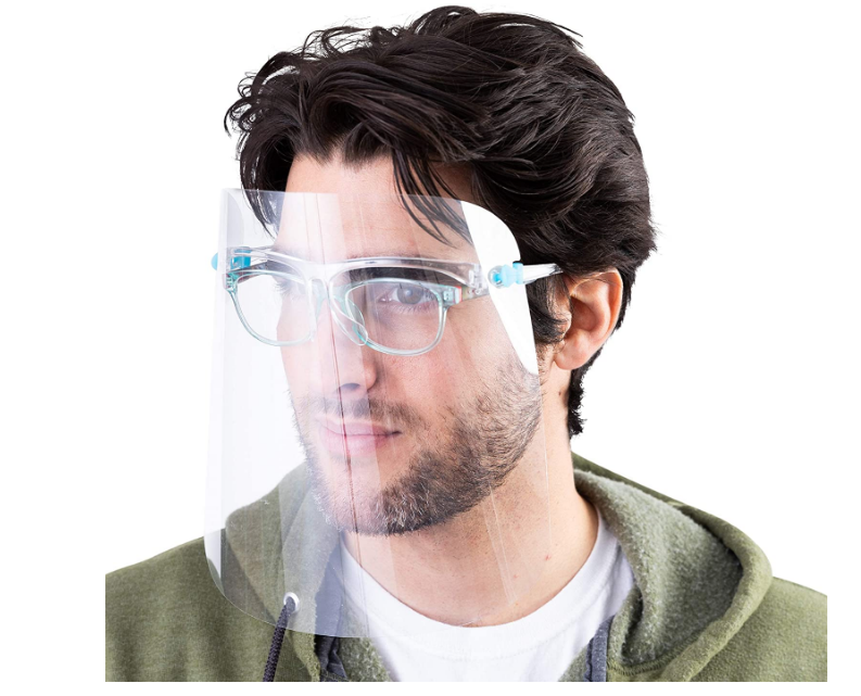 Face Shields w/glasses-01841