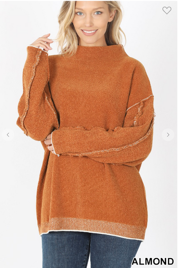 02374- OVERSIZED MOCK NECK SWEATER