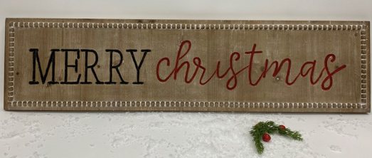 Merry Christmas Sign 02435