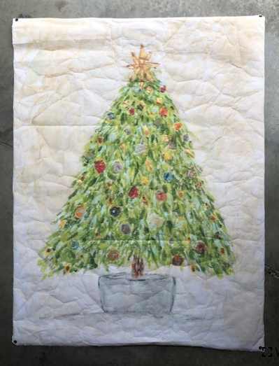 Christmas Tree Tapestry 02436