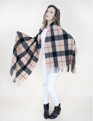 02518- Wide Plaid Scarf
