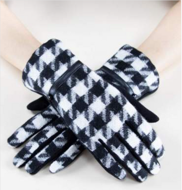 02524- Houndstooth Gloves