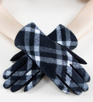 02513- Diagonal Plaid Gloves