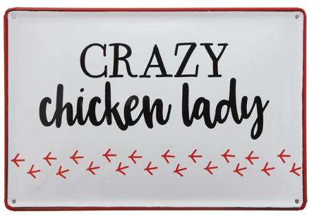 02789- Crazy Chicken Lady Wall Tin
