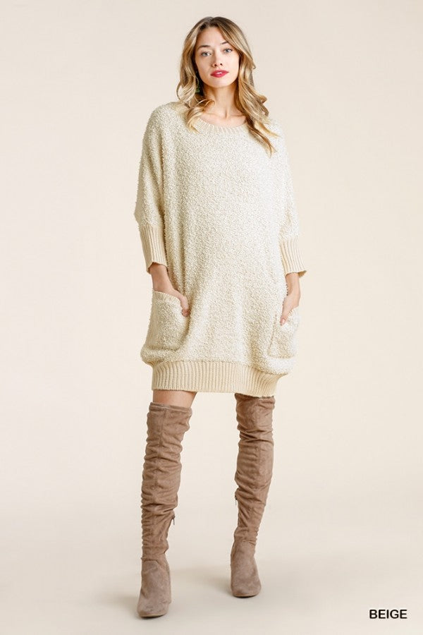 Sweater Dress with Pockets  02767