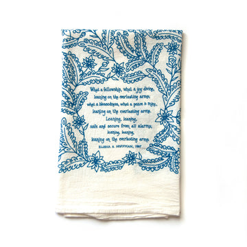 Leaning On The Everlasting Arms Hymn Tea Towel 01606