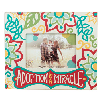 02640- ADOPTION IS A MIRACLE FRAME