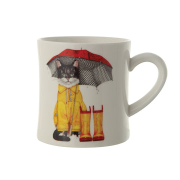 Cat & Umbrella Mug 01618