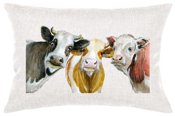 Cow Friends Lumbar Pillow 03138