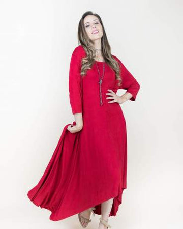 3/4 Sleeve Maxi Dress 02046