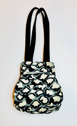 Black & White Small Carpet Bag