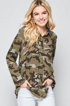 Camo Button Down 00154