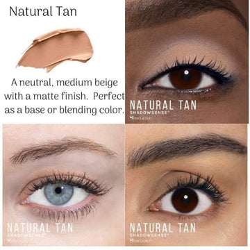 Natural Tan ShadowSense Creme to Power Eyeshadow
