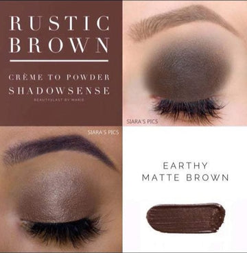 Rustic Brown ShadowSense Creme to Power Eyeshadow