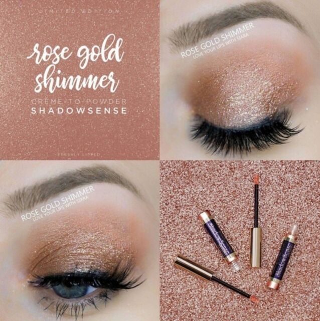 Rose Gold Shimmer ShadowSense Creme to Power Eyeshadow