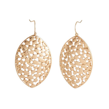 Gold Fern Dangle Earrings 02013