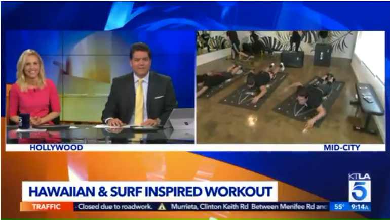 LA's Premier Surf Fitness Studio Debuts New Surf Training Mat On KTLA 5 Morning News