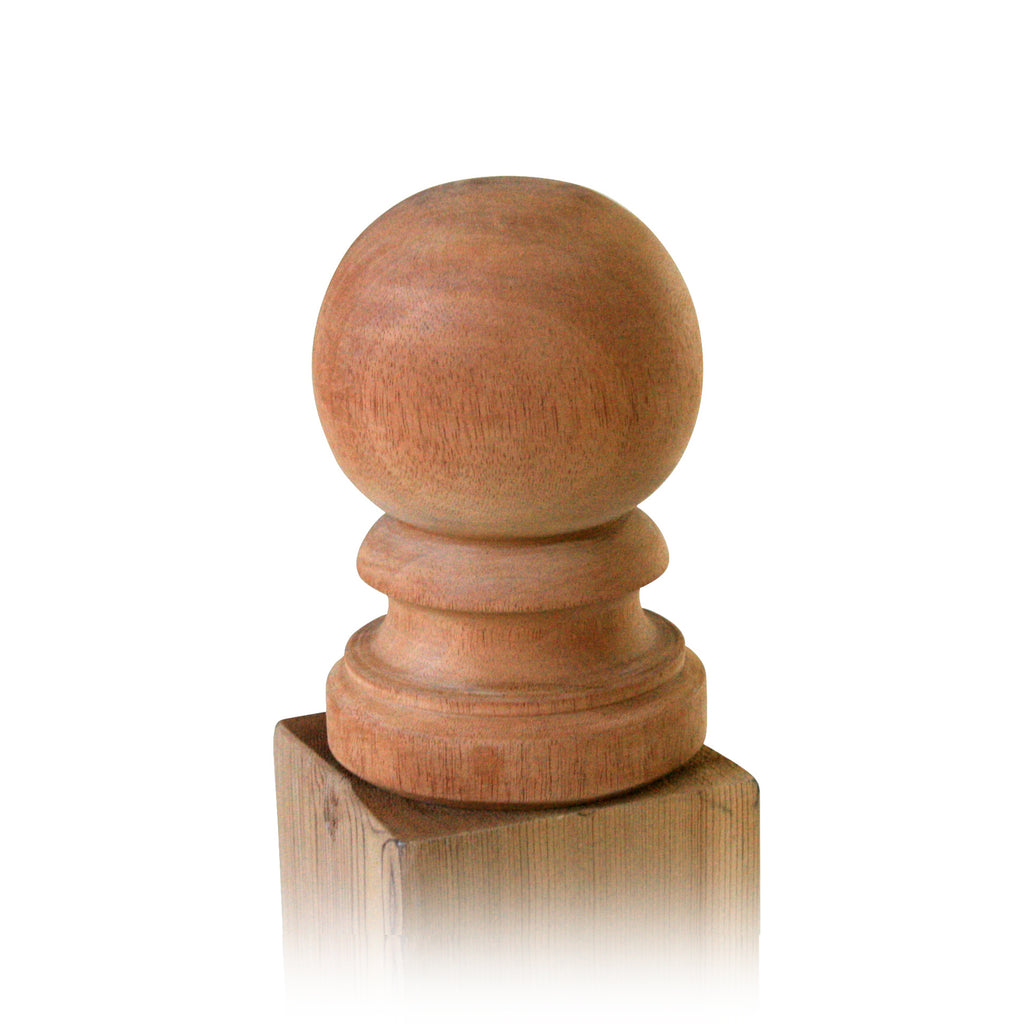 Wood Ball Top Post Cap