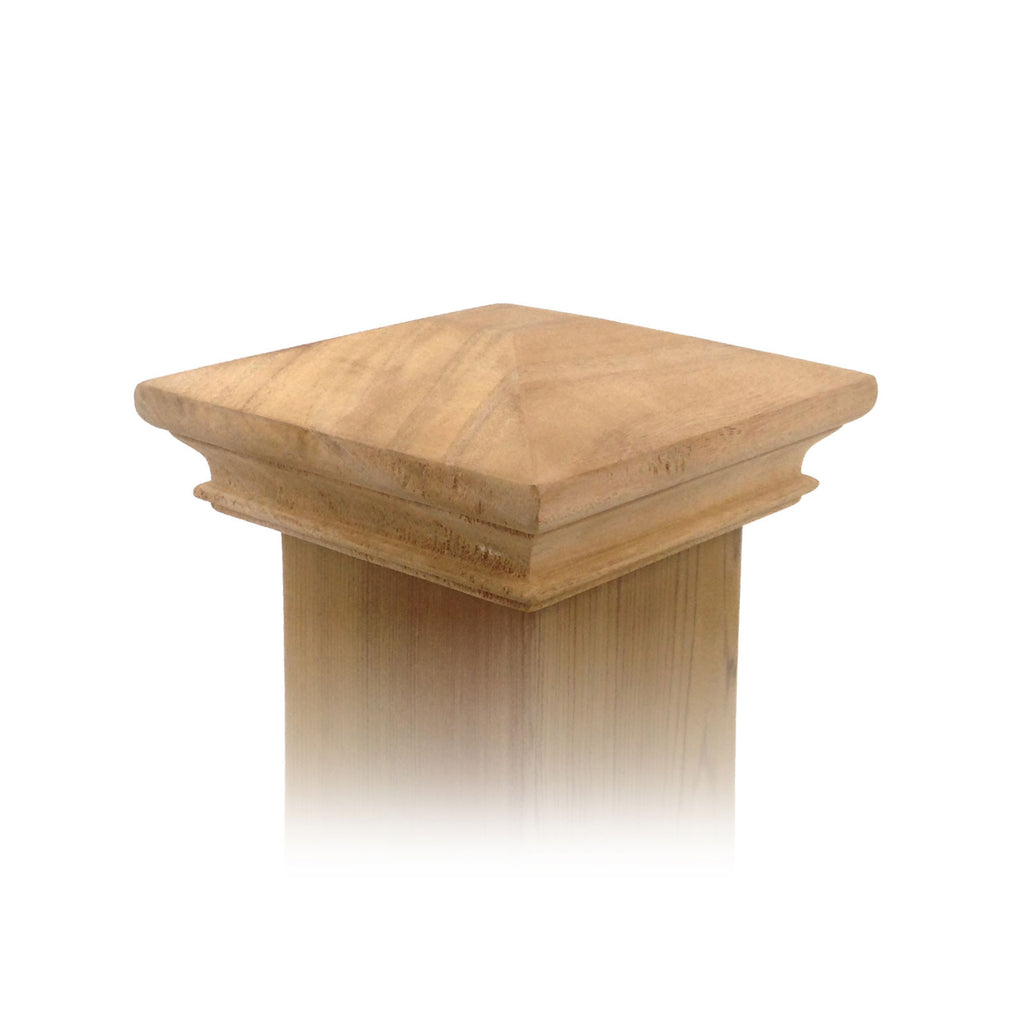wood pyramid post cap 4x4 5x5 6x6 4x6