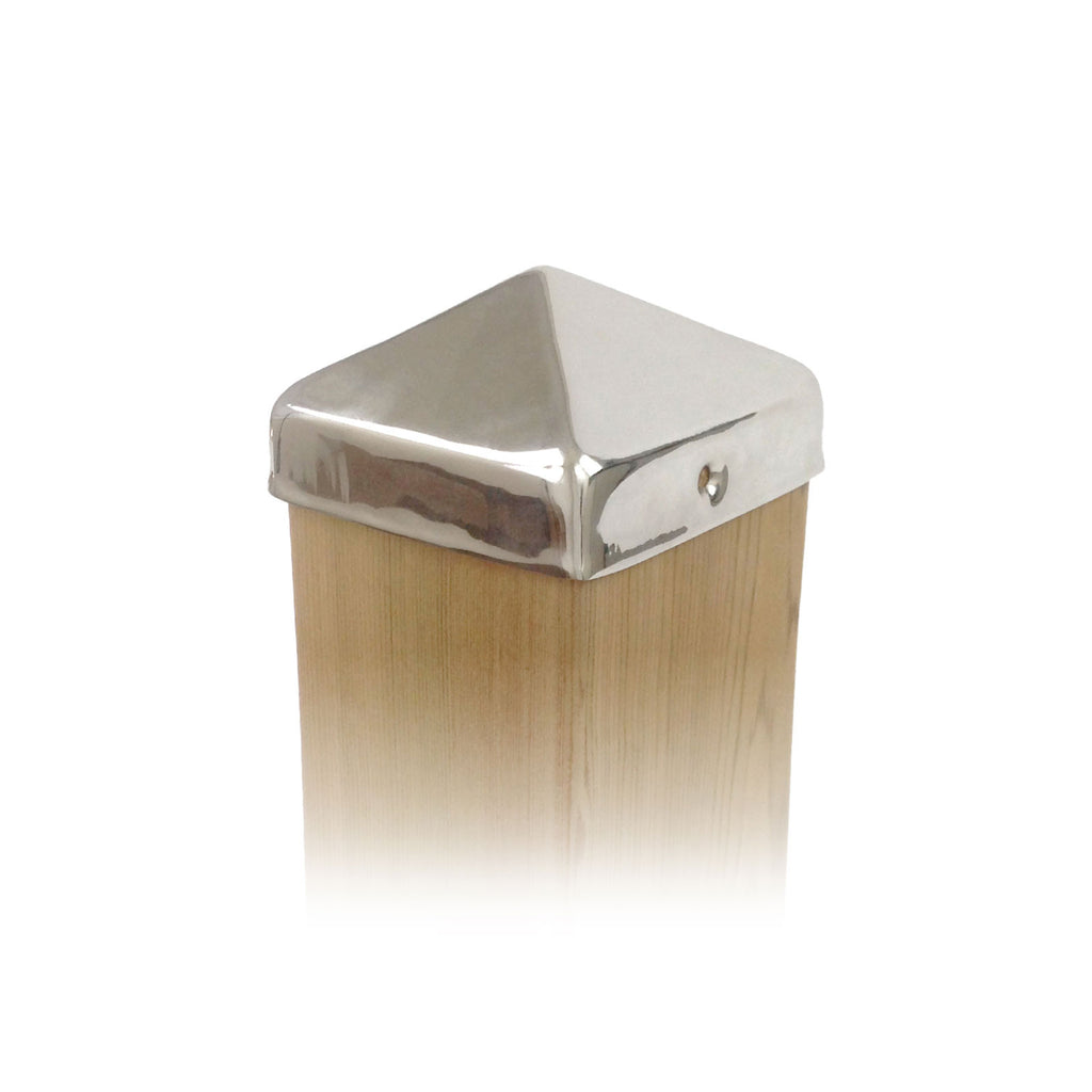 Stainless Steel Pyramid Post Cap - 4x4, 5x5, 6x6, 8x8, 4x6