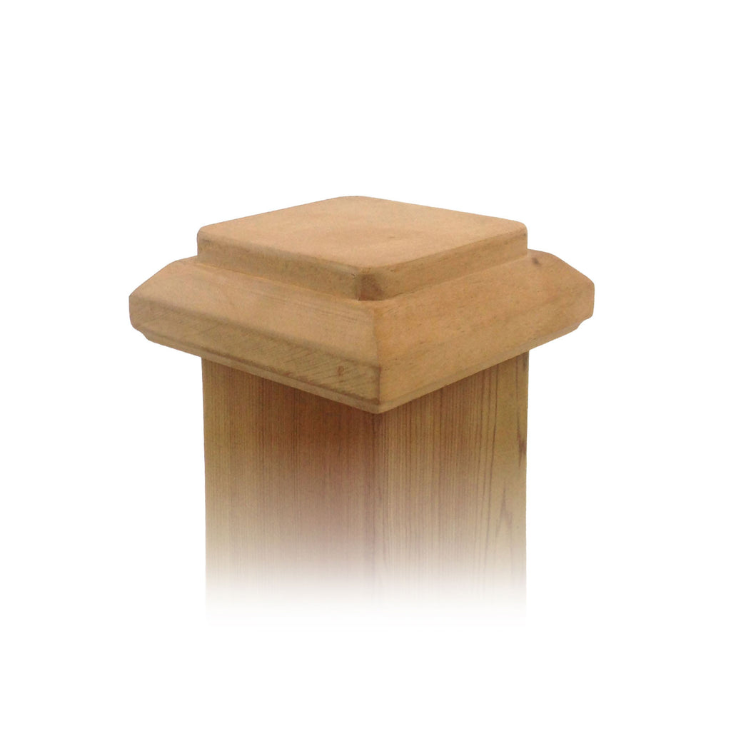Angle view of 4x4 Traditional Original Wood Fence Post Cap