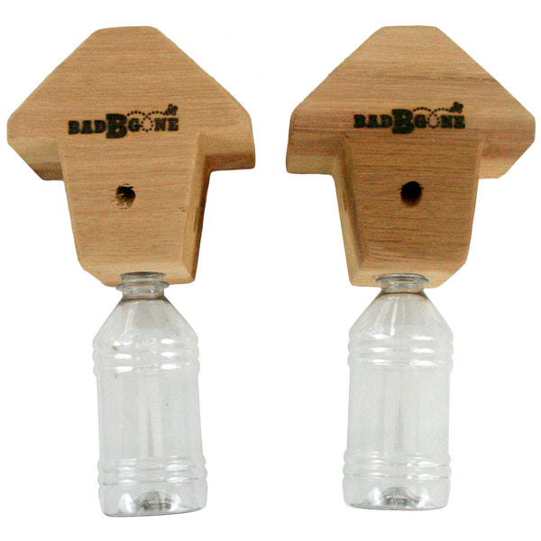 Bad-Bee-Gone Wood Bee Trap For Carpenter Bees (2-pack)