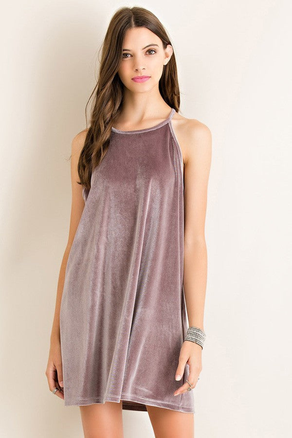 Pearl Velvet Shift Dress