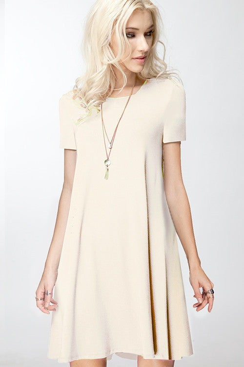Cream T-Shirt Dress