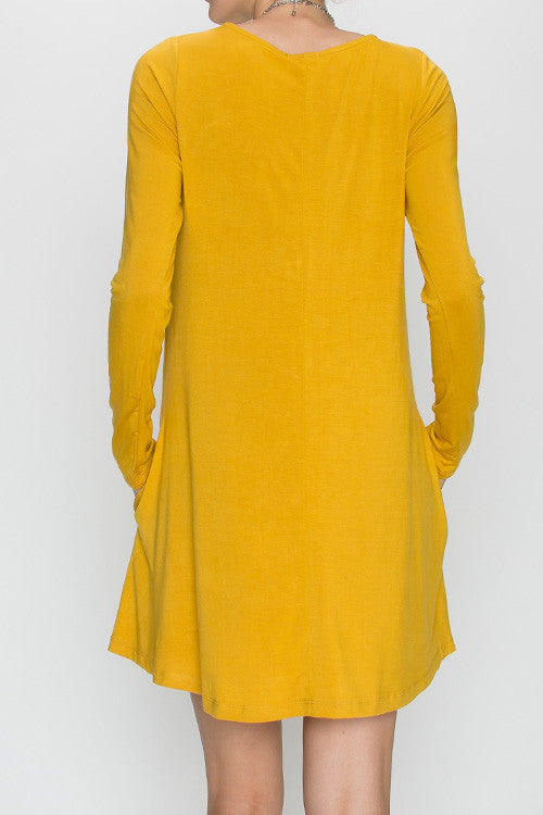 Mustard Tshirt Dress