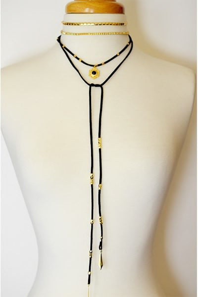 Bohemian Cord Layered Necklace