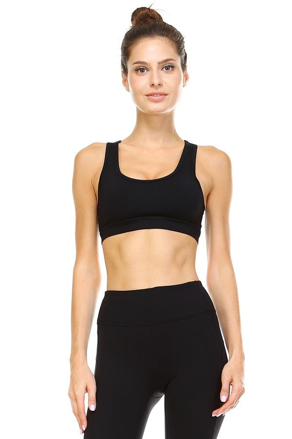 Back Cutout Sports Bra