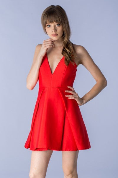 Lipstick Red Dress