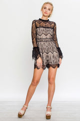 Champagne Night Romper