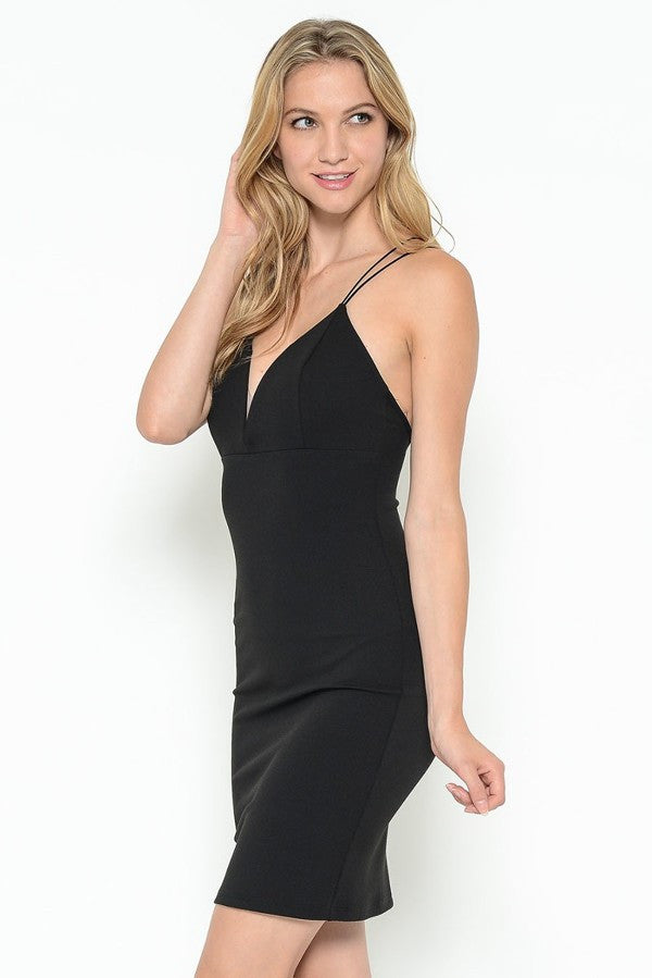 Crepe Back Dress