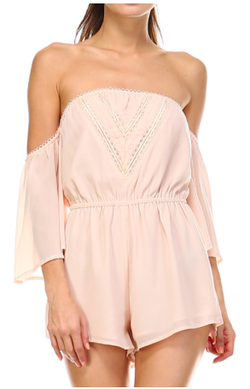 Off-Shoulder Romper w/ Front Detail