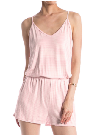 Striped Pocket Detail Romper