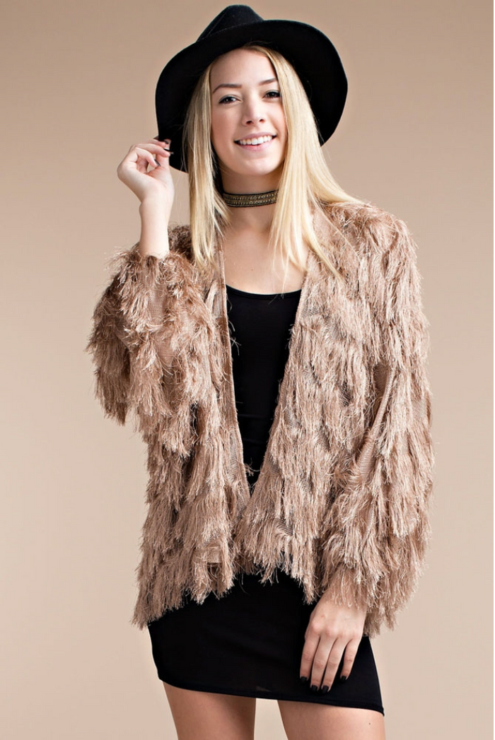 Shaggy Mocha Jacket