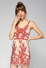 Laced in Lace Red Dress