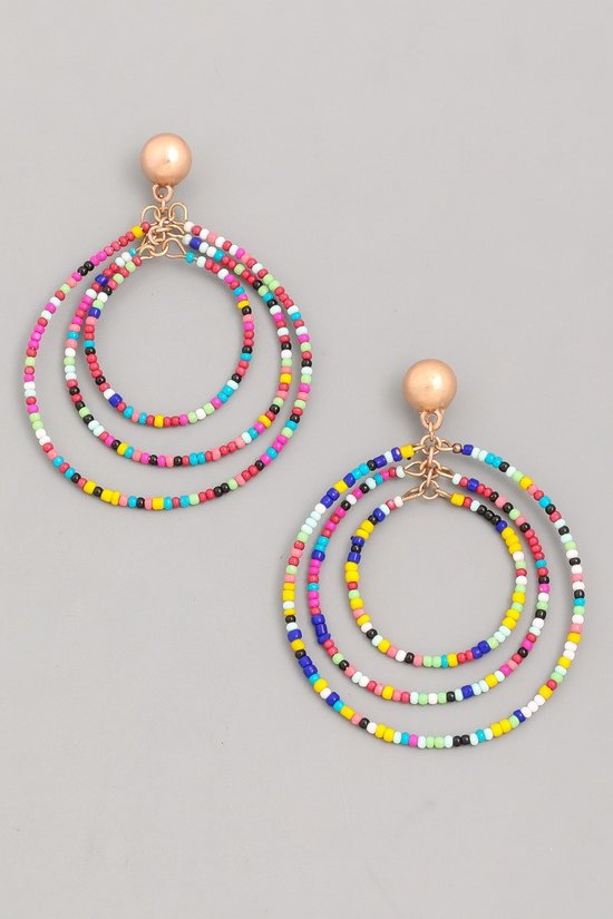 Multi Beaded Earrings