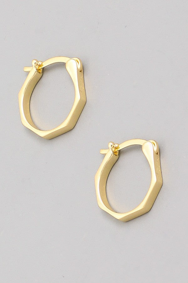 Mini Hepta Hoops -Gold