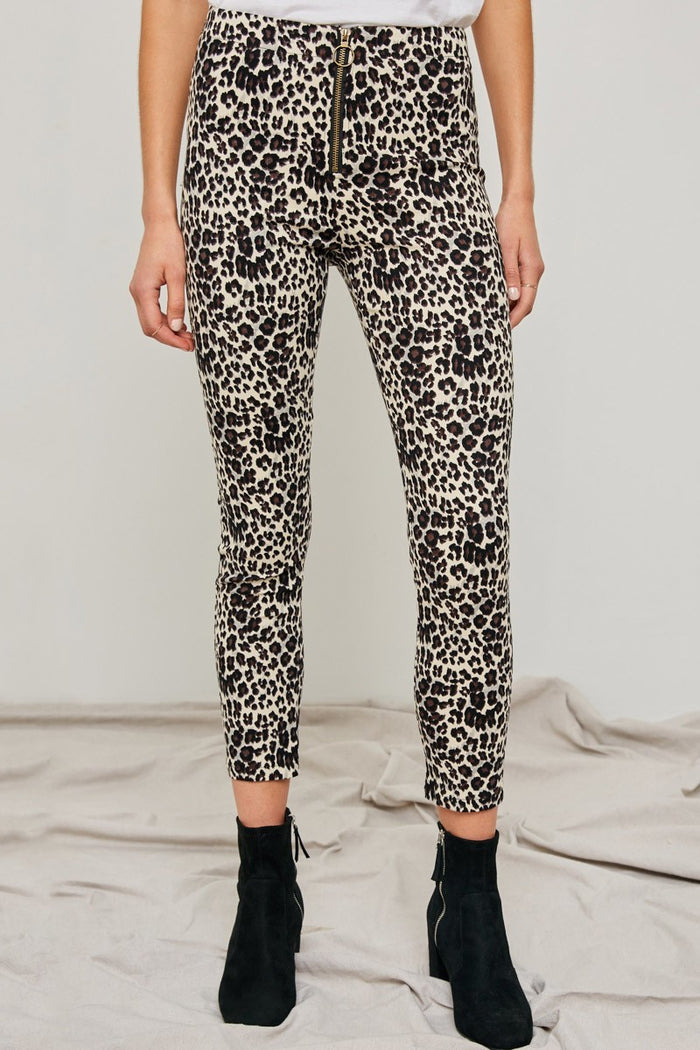 High-Rise Leopard Pants