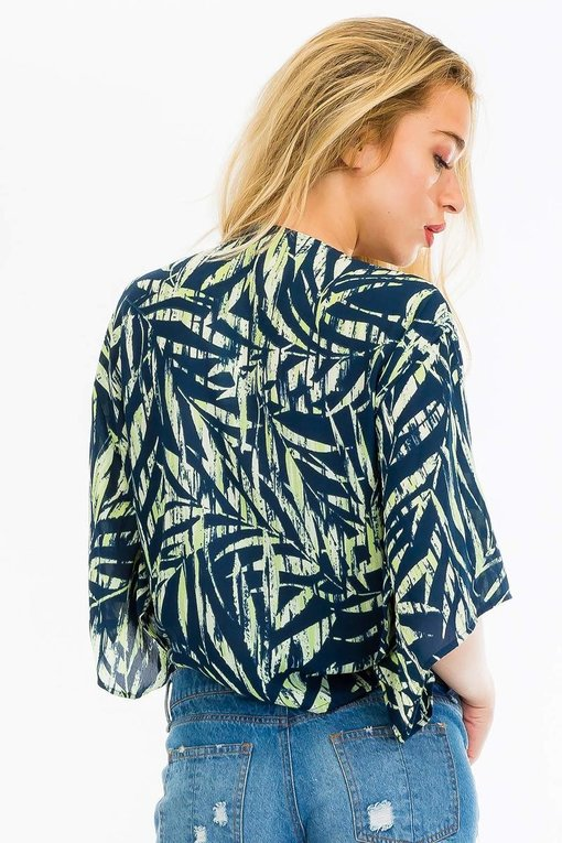 Palm Leaf Tie Top