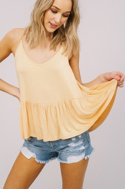 Sunflower Peplum Tank